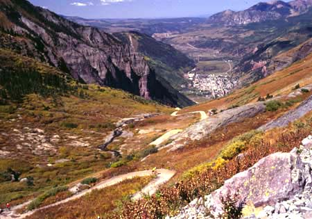 Telluride from Back Bear Pass