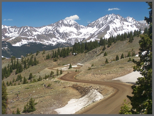 Cottonwood Pass, Sawatch Range - Colorado - approaching summit from west
