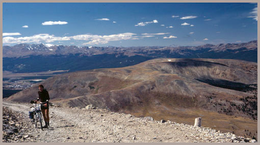 summit view from                         Mosquito Pass towards Leadville