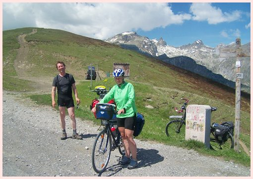 summit of Col                                   de Tende by bicycle