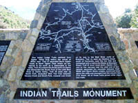 Indian Trails Monument on North Ogden Pass